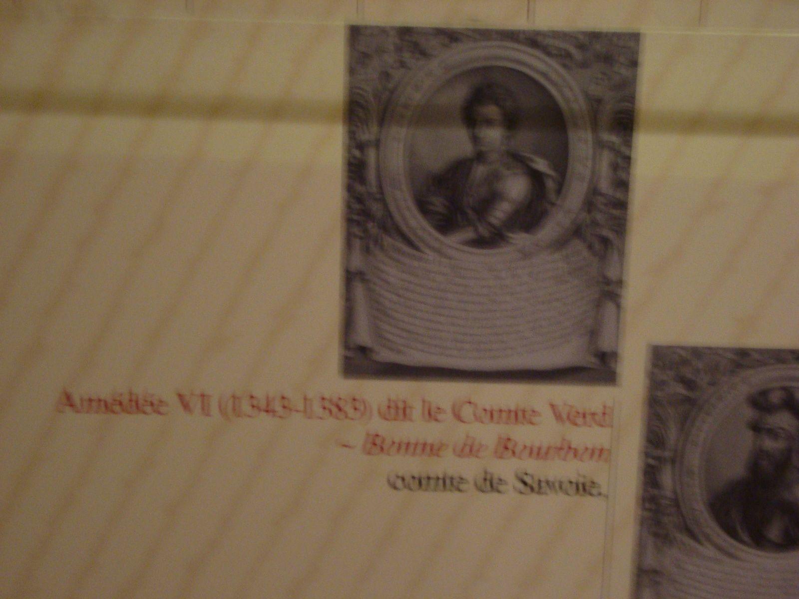 le comte Verd à Hautecombe et dans le château des ducs à Chambéry, photos J.D. 25 et 27 juillet 2016