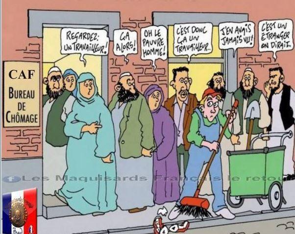 caricature publiée sur le journal en ligne de Riposte Laïque (16 janvier 2017)