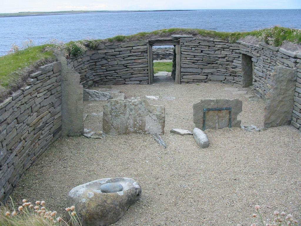 restes de la maison des îles Orcades