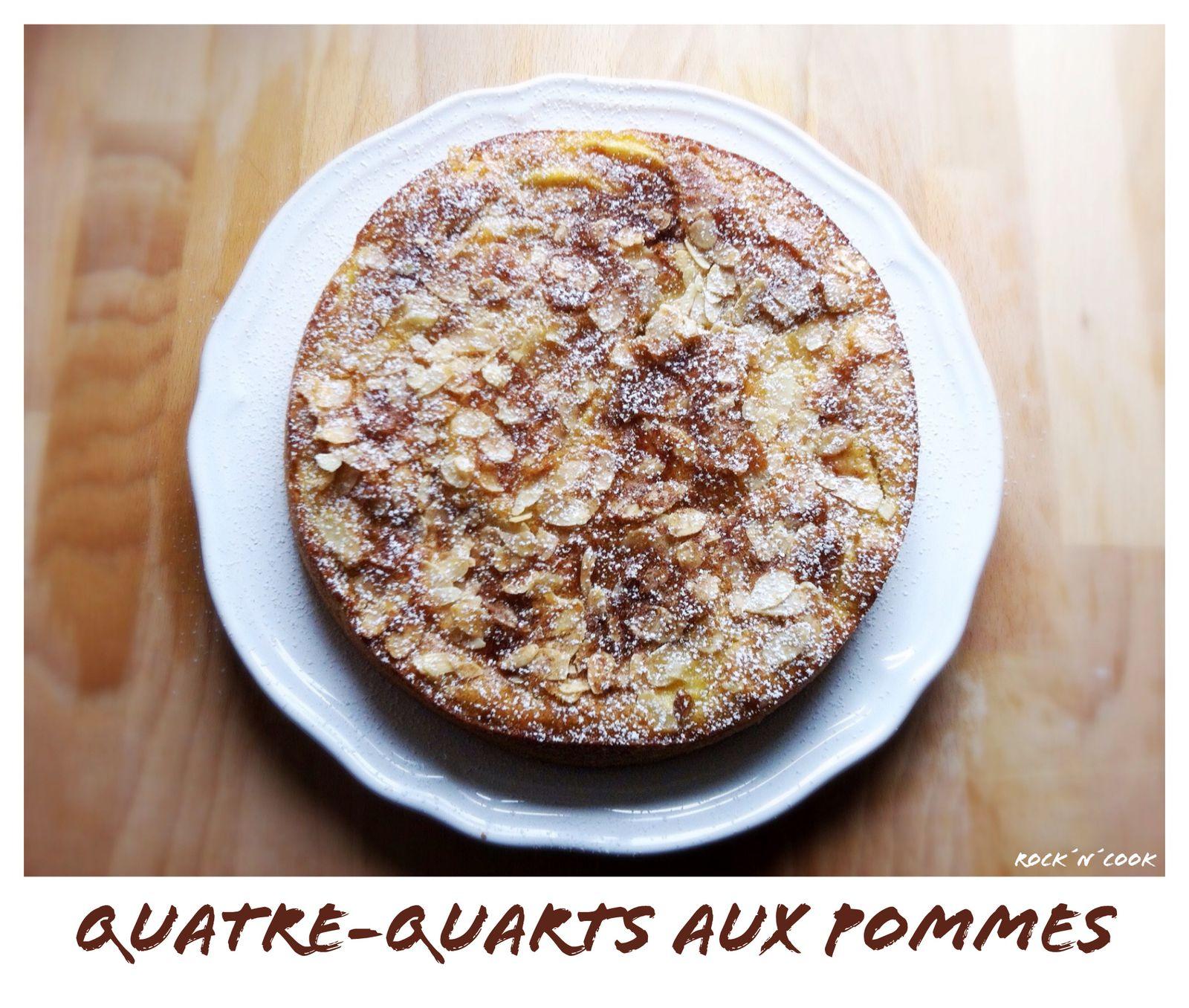 - Cake quatre-quarts aux pommes -