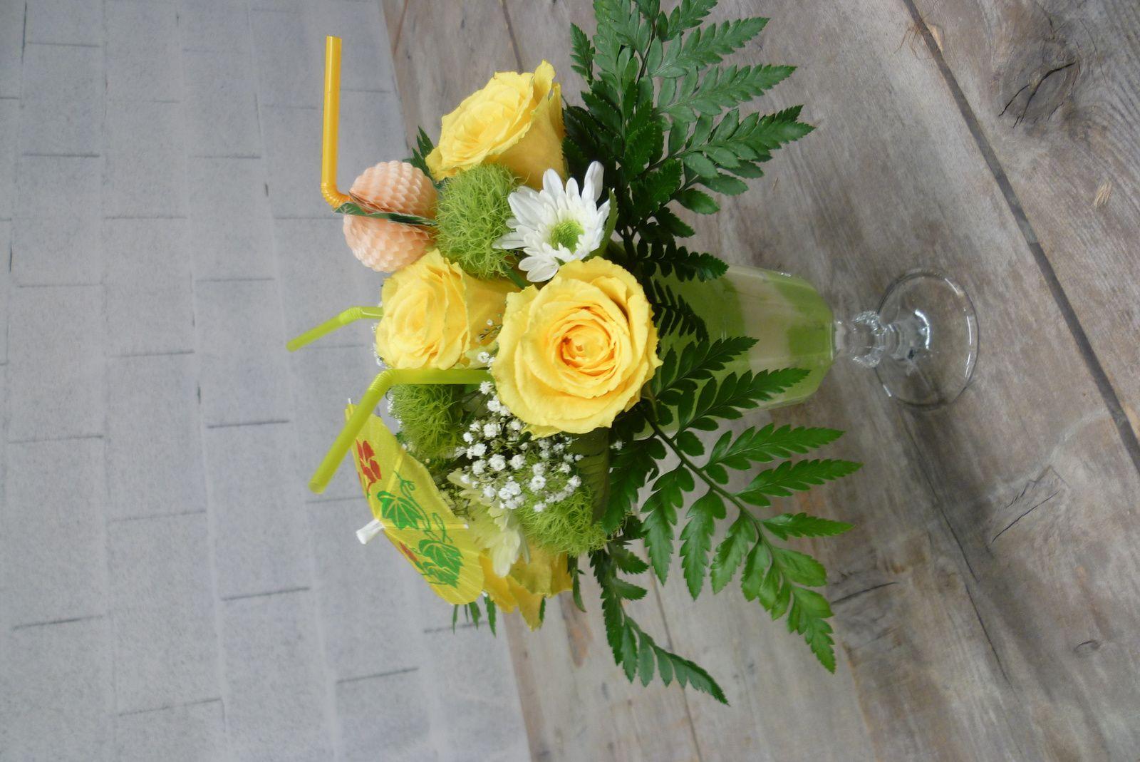 Art floral du jour : une coupe glacée
