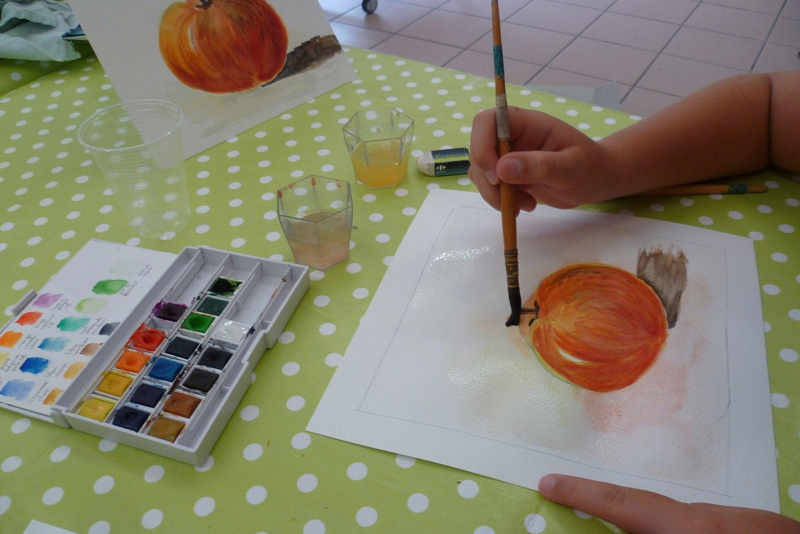 Fin de l'expo et des stages d'aquarelle