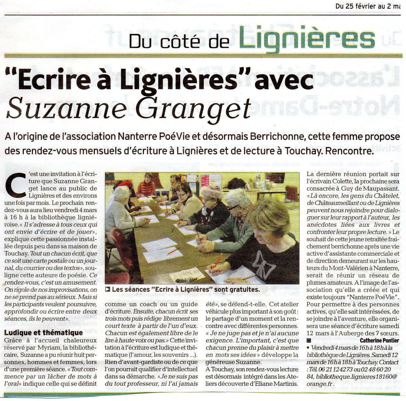 article dans L'Echo du Berry