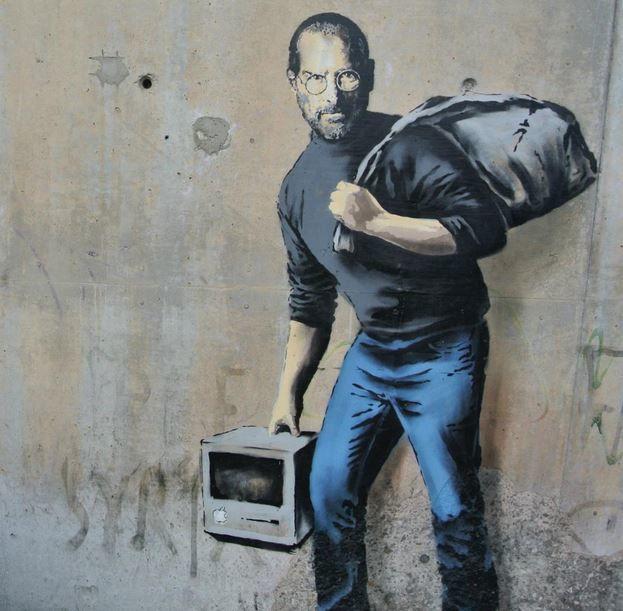Banksy offre Steve Jobs à Calais