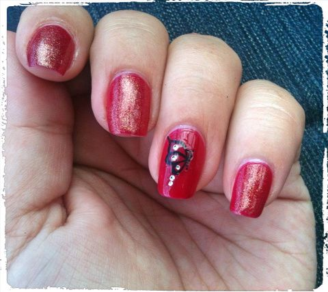 Accent nail sticker
