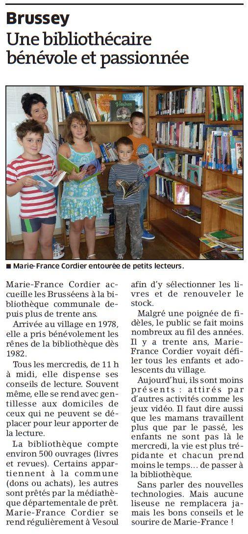 Source : L'Est Républicain 8 oct 2013