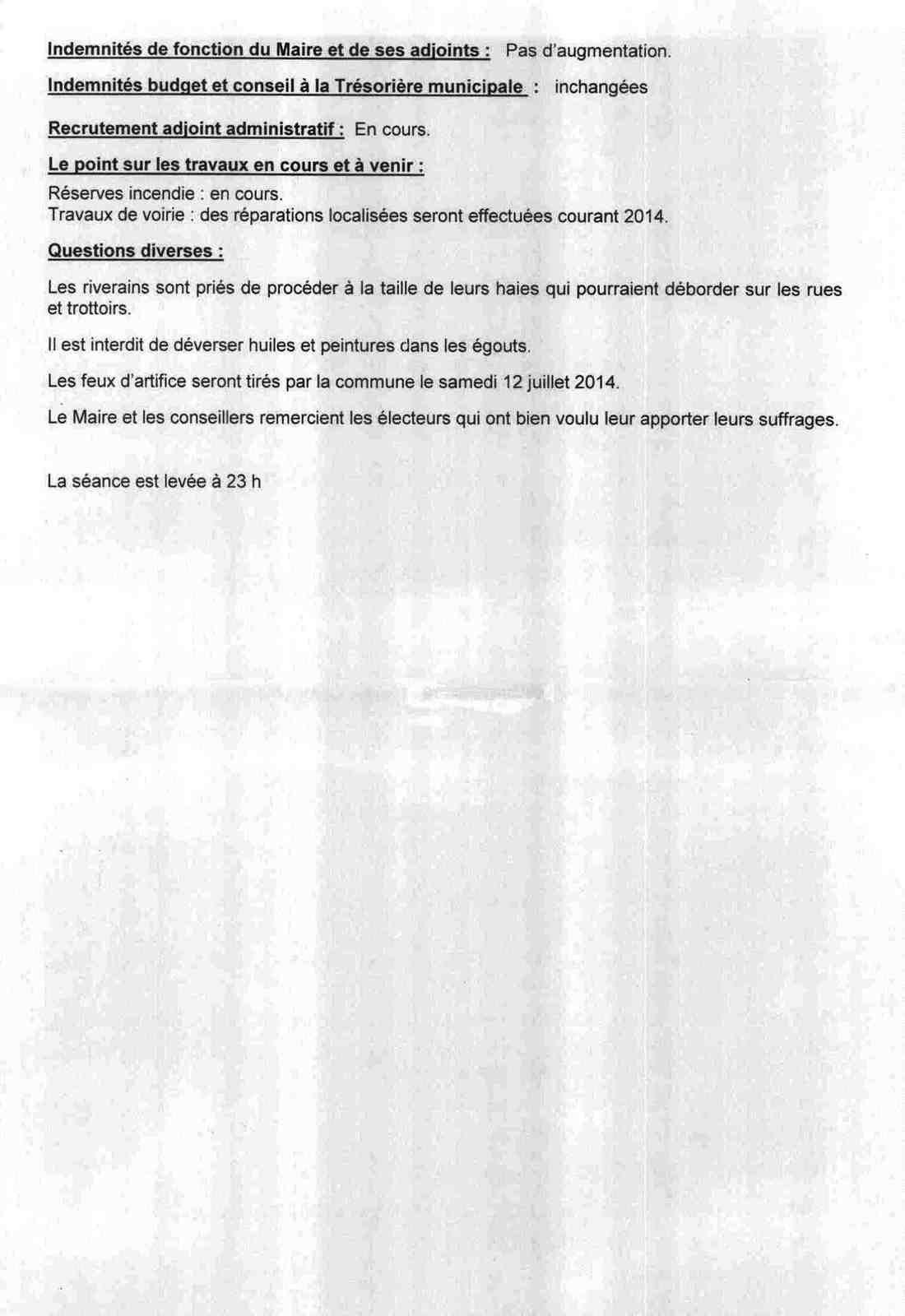 CONSEIL MUNICIPAL 2014 04 04