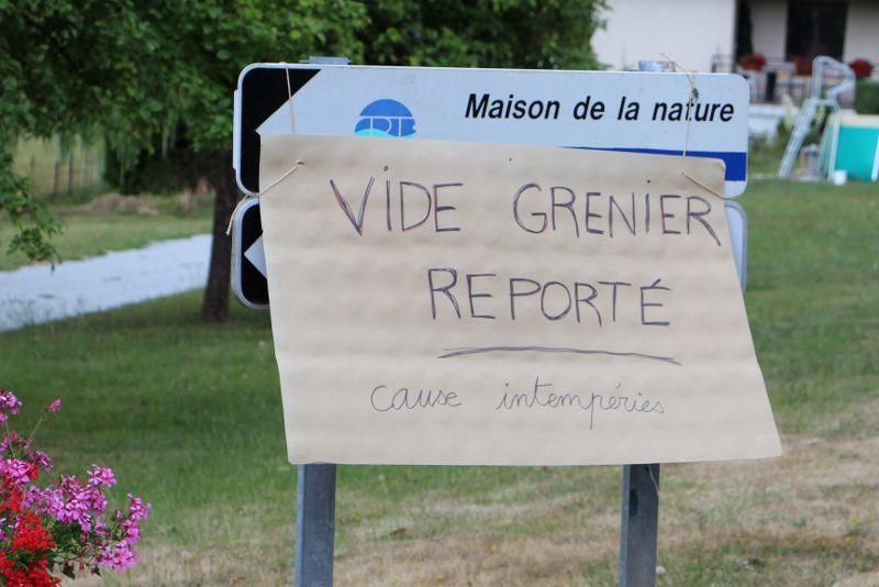 LE VIDE-GRENIER REPORTE A PLUS TARD