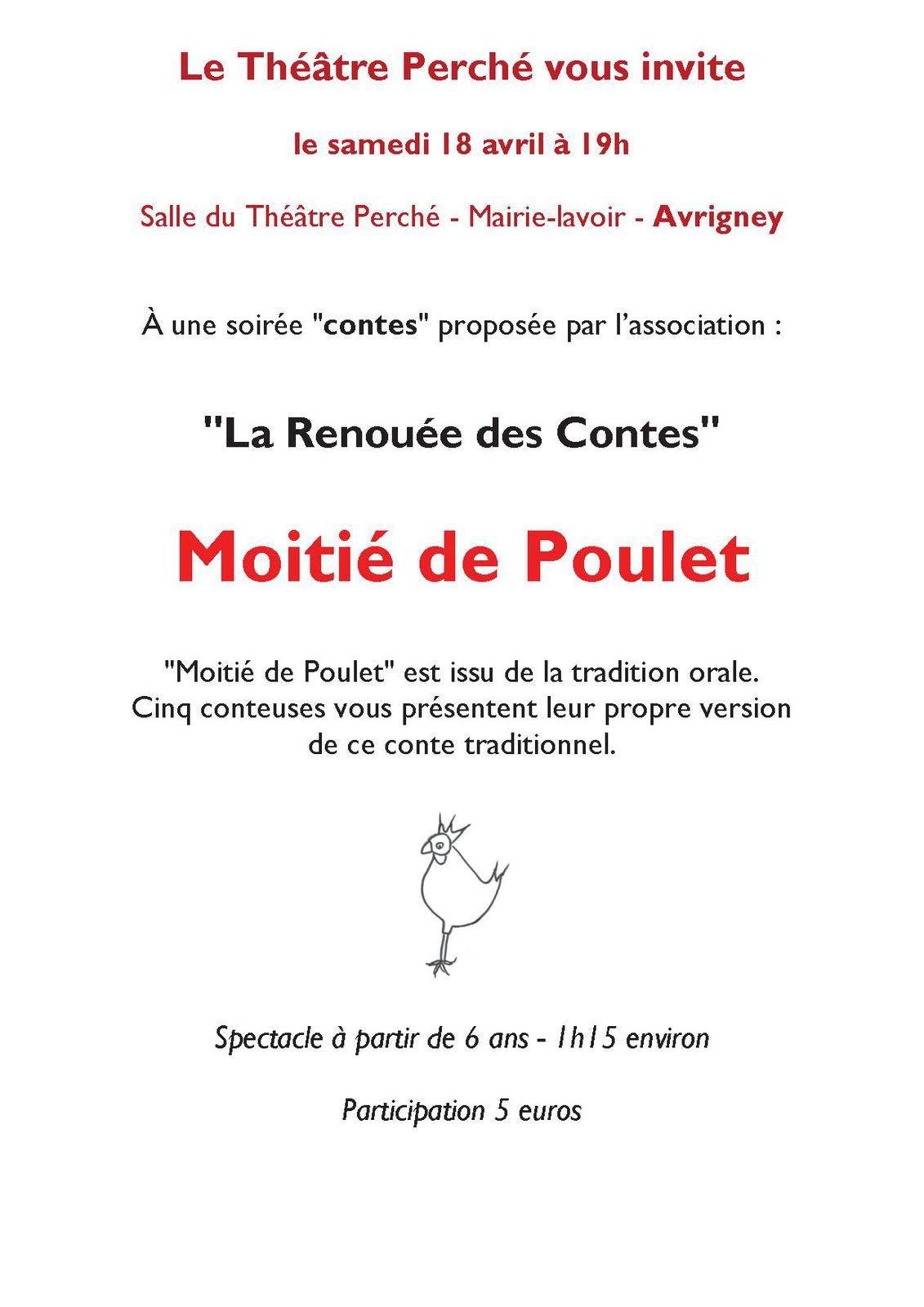 SAMEDI 18 AVRIL A AVRIGNEY : MOITIE DE POULET