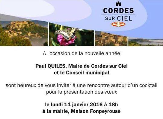 Voeux du maire de Cordes