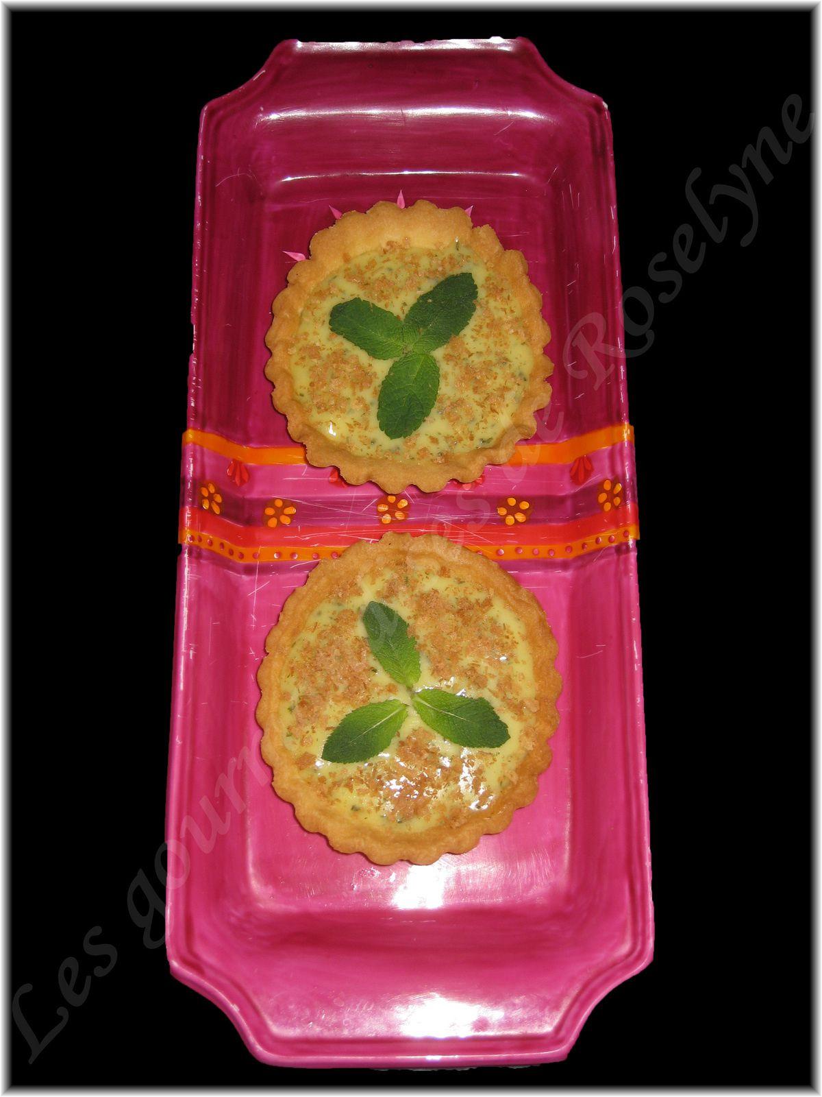 Tartelettes menthe citron et crêpes Gavottes
