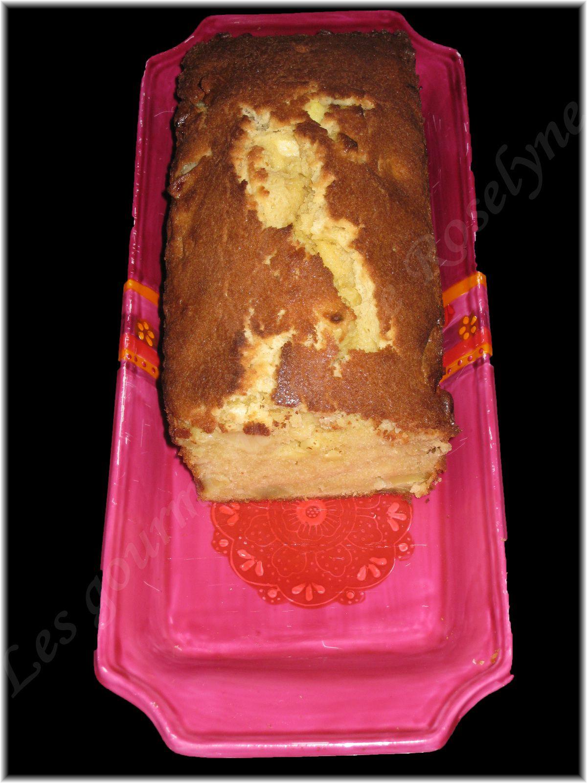 Cake moelleux aux pommes et au citron