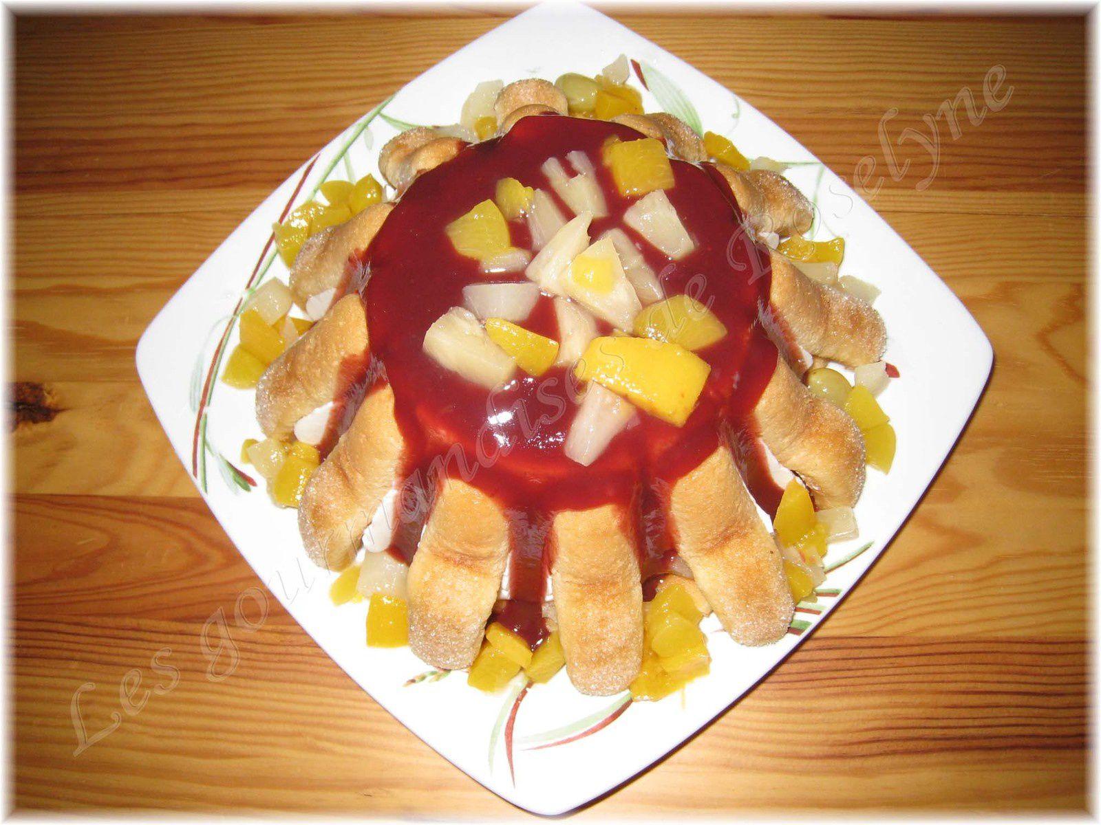 Charlottes aux fruits, recette remontée pour concours