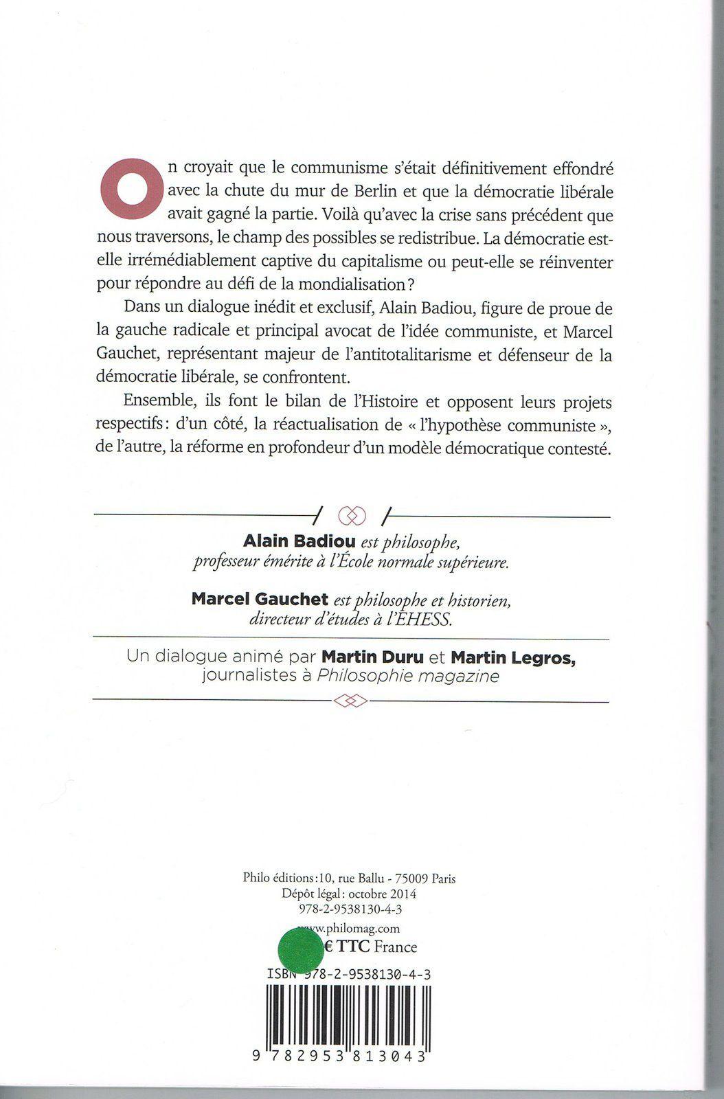 Badiou- Gauchet: un vrai débat