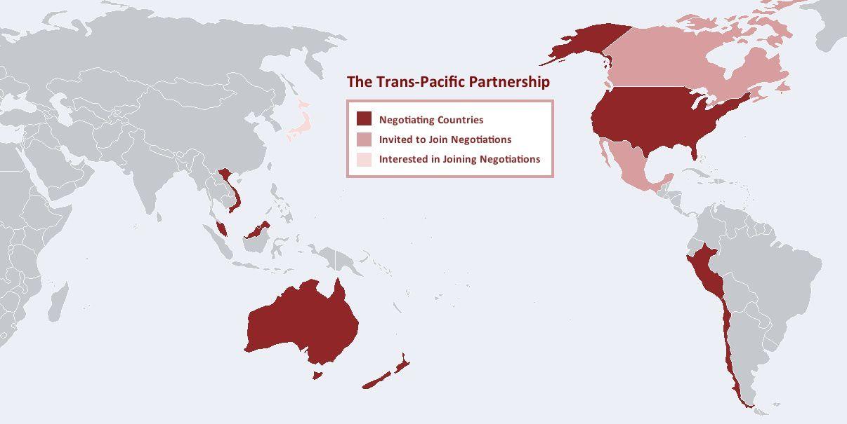 TAFTA/PTP mêmes combats, les partenariats trans-océans engendrent les mêmes dangers pour les peuples.