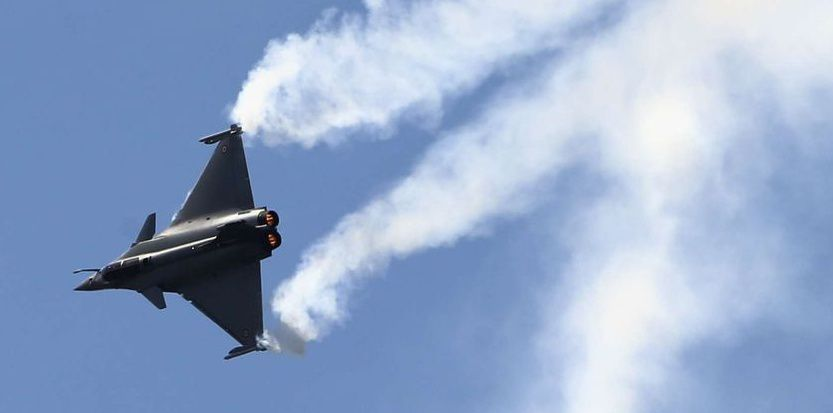 Un Rafale en démonstration. (AP Photo/Francois Mori)