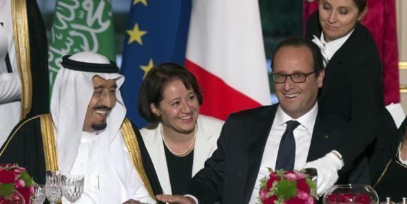 """""""Notre priorité commune c'est la paix et la sécurité et notamment au Moyen Orient. Cette exigence est plus que jamais nécessaire maintenant que la crise syrienne a débordé en Irak et qu'un mouvement terroriste (L'Etat islamique) prétend devenir un Etat"""", a souligné François Hollande. (Crédits : Reuters)"""