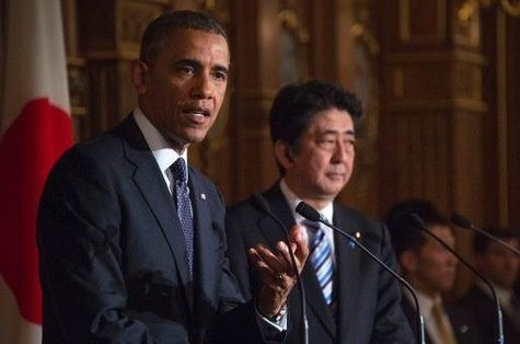 Barack Obama et Shinzo Abe, AFP