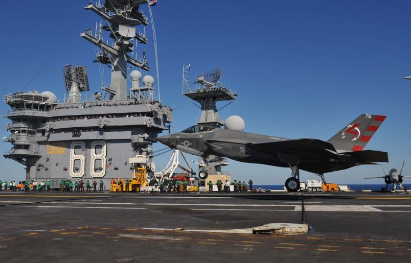 F-35C Makes First Arrested Landing on Aircraft Carrier