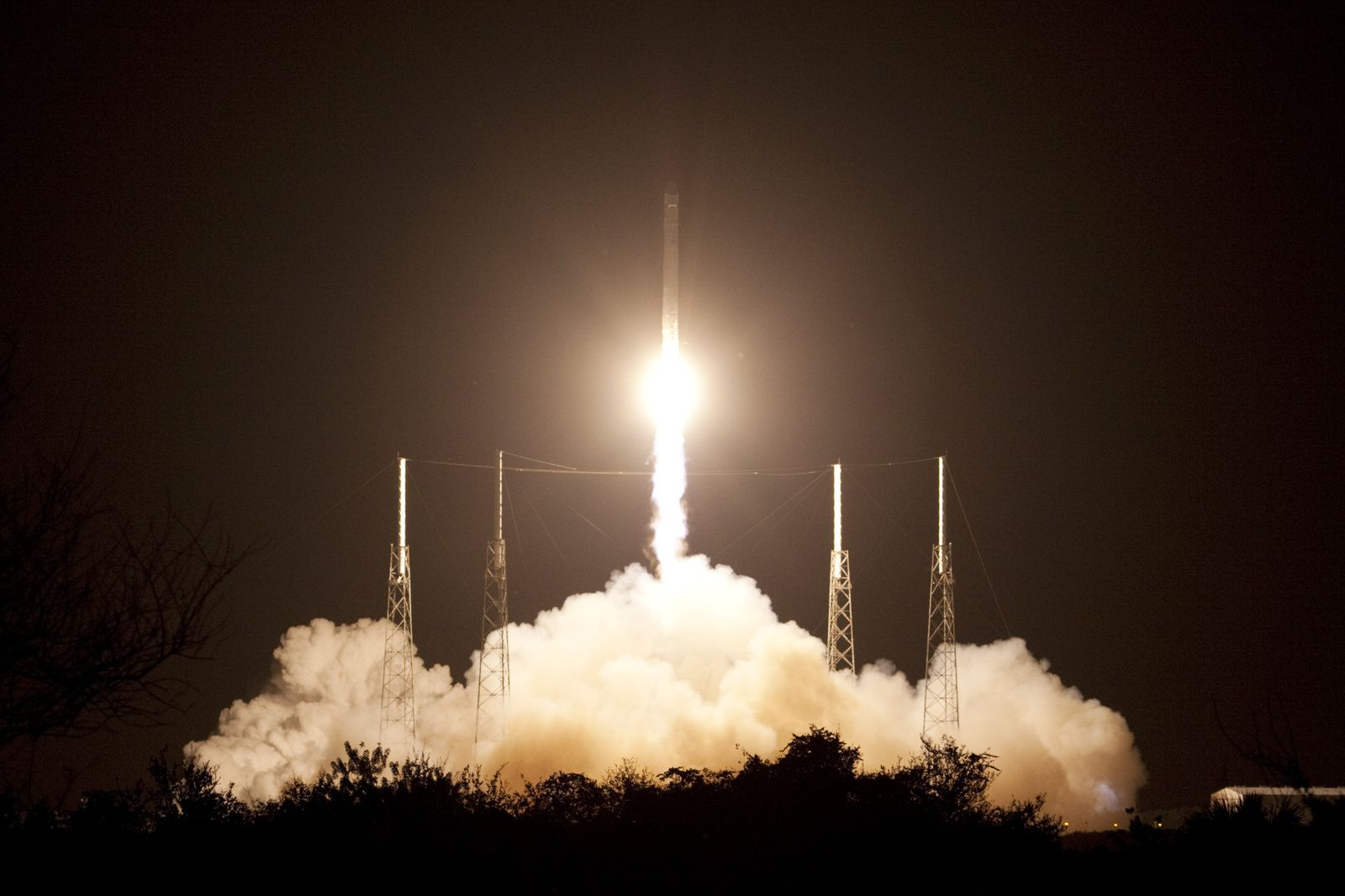 The SpaceX CRS-1 Falcon 9 launches on 8 October 2012.