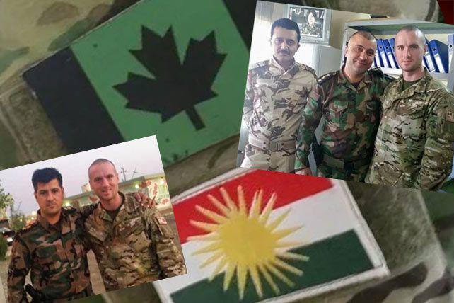 Un premier vétéran des Forces armées canadiennes est parti combattre les djihadistes de l'État islamique aux côtés des combattants peshmergas. (45eNord.ca/1st North American Expeditionary Force/Dillon Hillier)