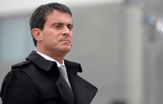 Le Premier ministre  français Manuel Valls en déplacement  le 19 novembre 2014 (M.Medina/AFP)