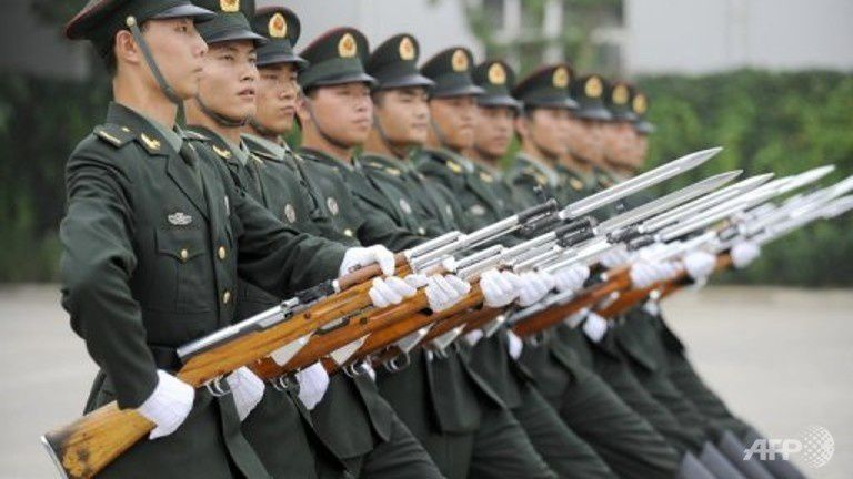Chinese People's Liberation Army (PLA) guards of honour in Beijing. (File photo: AFP/Liu Jin)