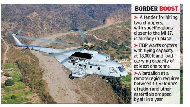 Until now, the ITBP was dependent on Indian Air Force for air support to maintain its outposts.