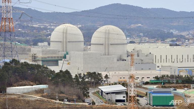 File photo of South Korea's nuclear power reactor under construction, Shin-Kori 3 and 4 called APR-1400, in Gori near the southern port of Busan. (Photo: AFP/Jung Yeon-Je)