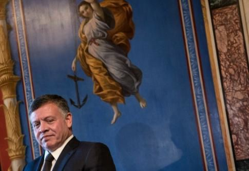 Le roi Abdallah de Jordanie en février 2015 - AFP/Brendan Smialowski
