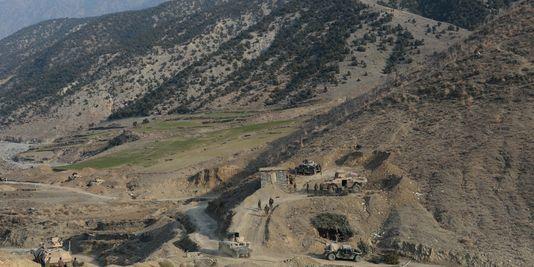 Le 3 janvier, lors d'une opération anti-talibans dans le district de Dangam près de la frontière pakistano-afghane, dans la province orientale de Kunar. AFP/Noorullah Shirzada