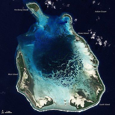 he Cocos (Keeling) Islands Image Credit: NASA's Earth Observatory