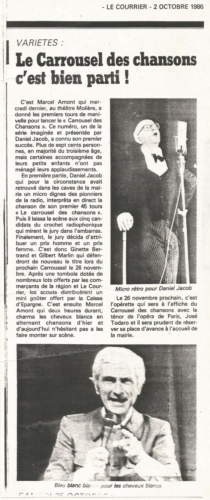 Marcel Amont, l'un de mes meilleurs souvenirs ... (8)