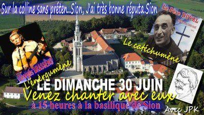 Le Père Duval et G. Brassens sur la Colline de Sion !