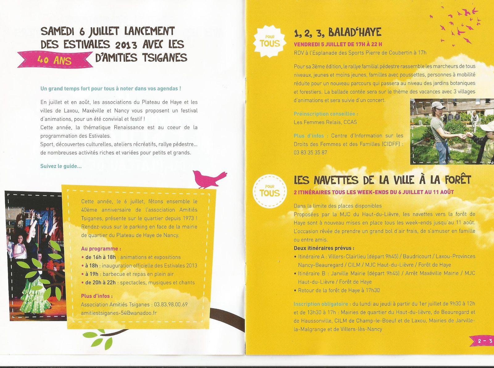 Les Estivales du Plateau de Haye... Quel programme !