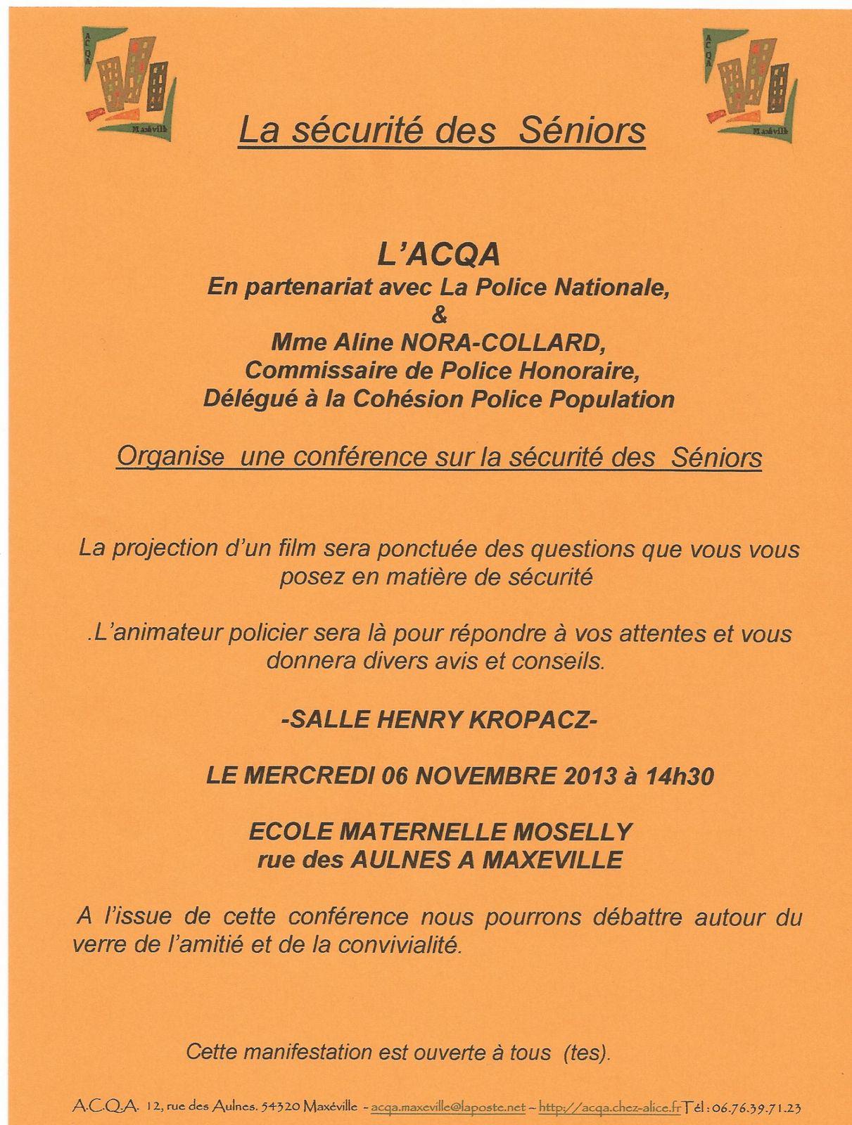 ACQA (Association du Collectif du Quartier des Aulnes) - 12 rue des Aulnes - 54320 Maxéville - Infos et renseignements: Téléphone: 03.83.98.38.62 et  06.76.39.71.23 - Site: http://acqa.chez-alice.fr - email: acqa.maxeville@laposte.net