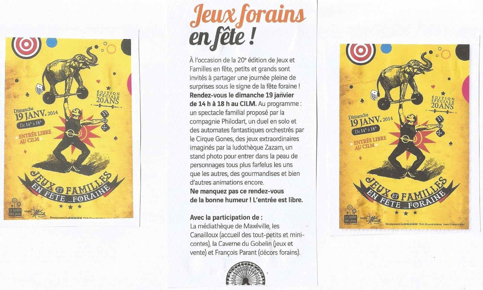 Jeux et Familles en Fête... 20ème... &quot&#x3B;Fête Foraine&quot&#x3B;...