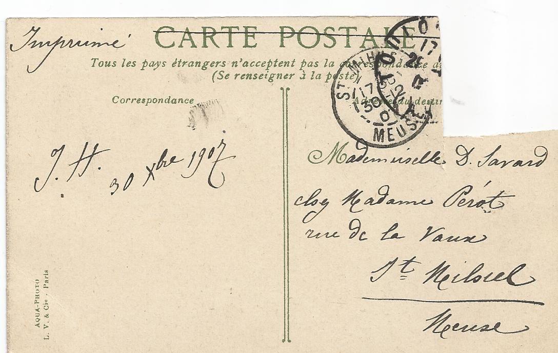 Vieilles cartes postales privées de leurs timbres (1)