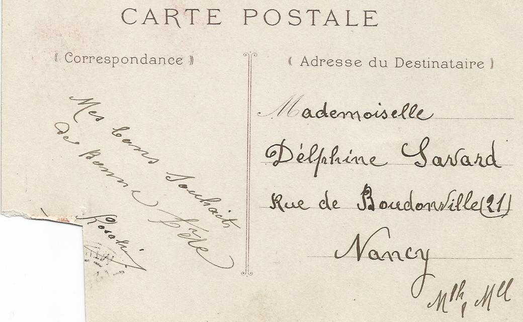 Vieilles cartes postales privées de leurs timbres (2)