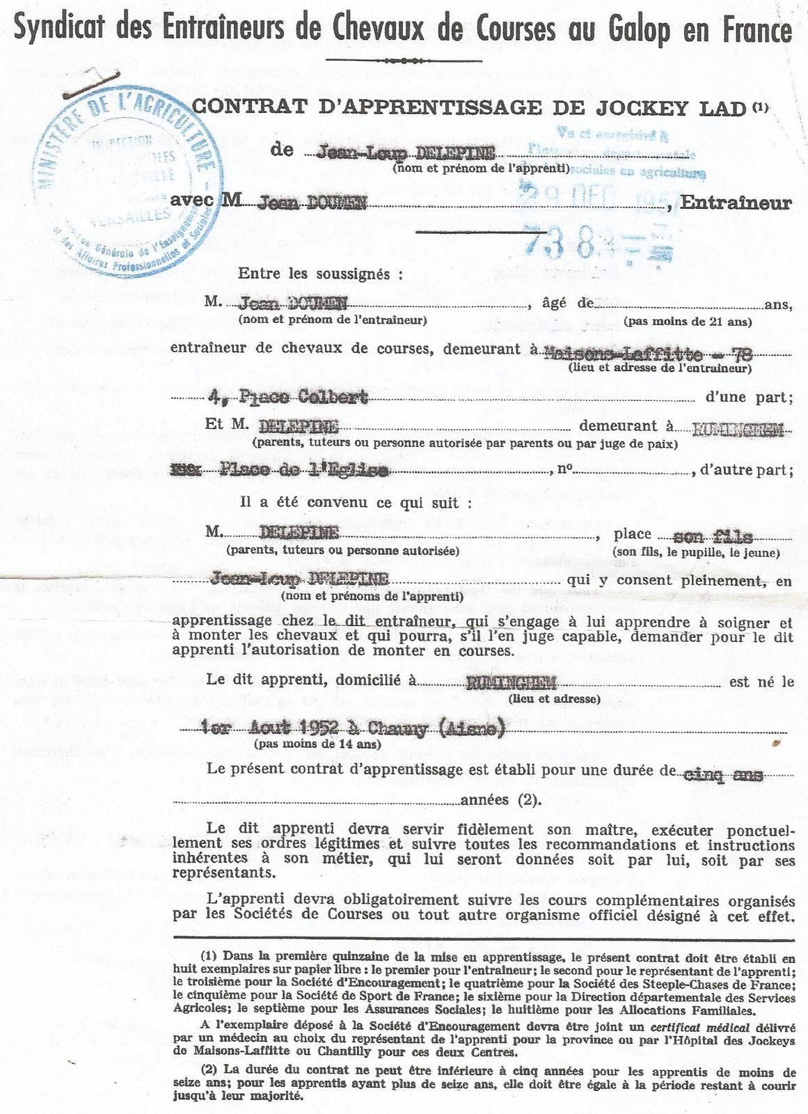 Mémoires d'un apprenti-jockey à Maisons-Laffitte (2)