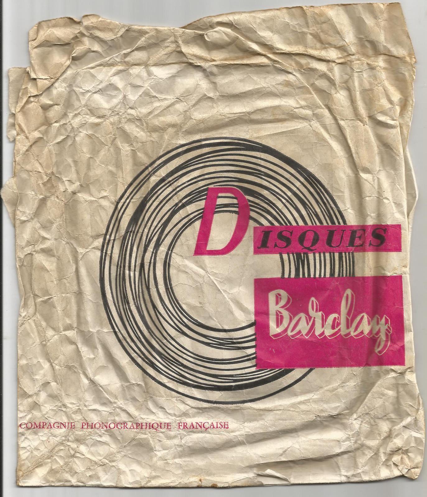 A propos d'une pochette de disque des années 50... Achat de mon 1er disque: les Platters ou le Père Duval