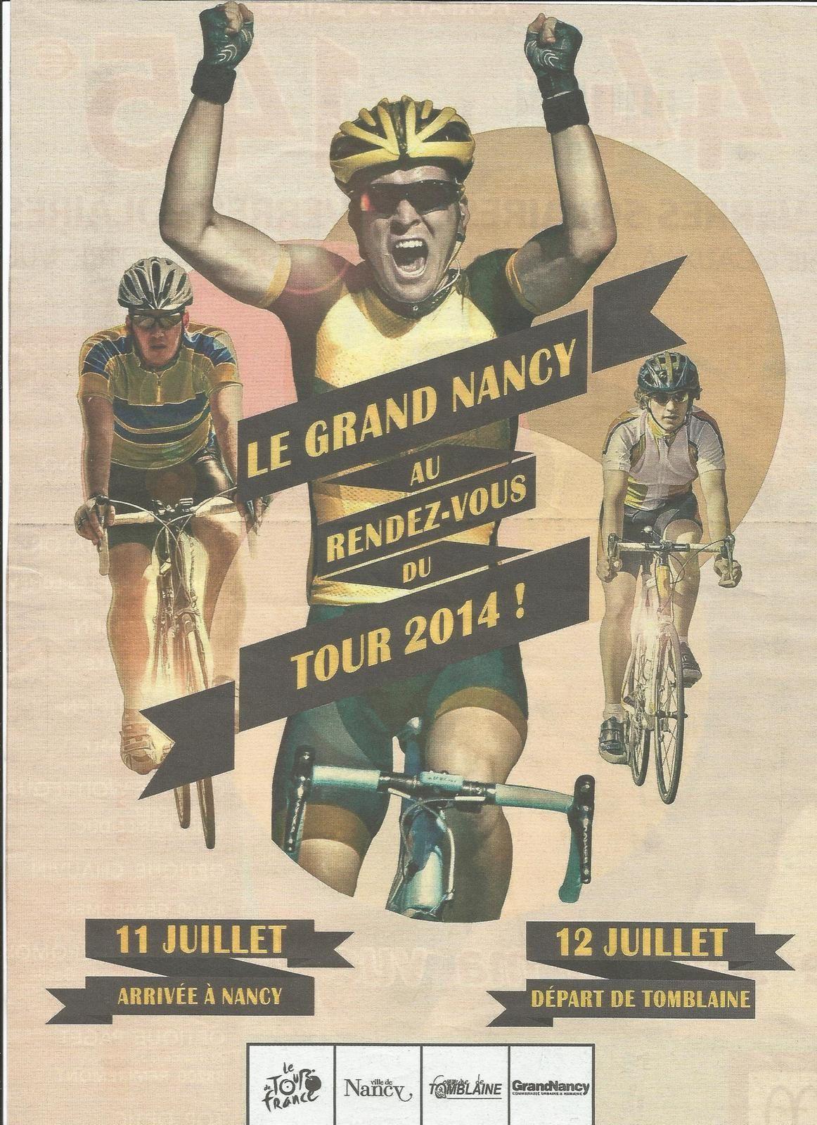 Arrivée du Tour de France vendredi à Nancy... Le soir, théâtre gratuit (une pièce de Molière) Place de la Carrière à 22h00...