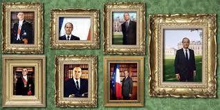 Mini-pause humoristique: l'image des 7 présidents de la 5ème République, de De Gaulle à Hollande: pour rire !