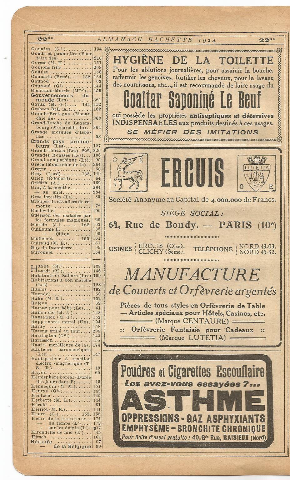 L'Almanach Hachette: à la découverte de la &quot&#x3B;Petite Encyclopédie Populaire de la Vie Pratique&quot&#x3B; de 1924 (3)