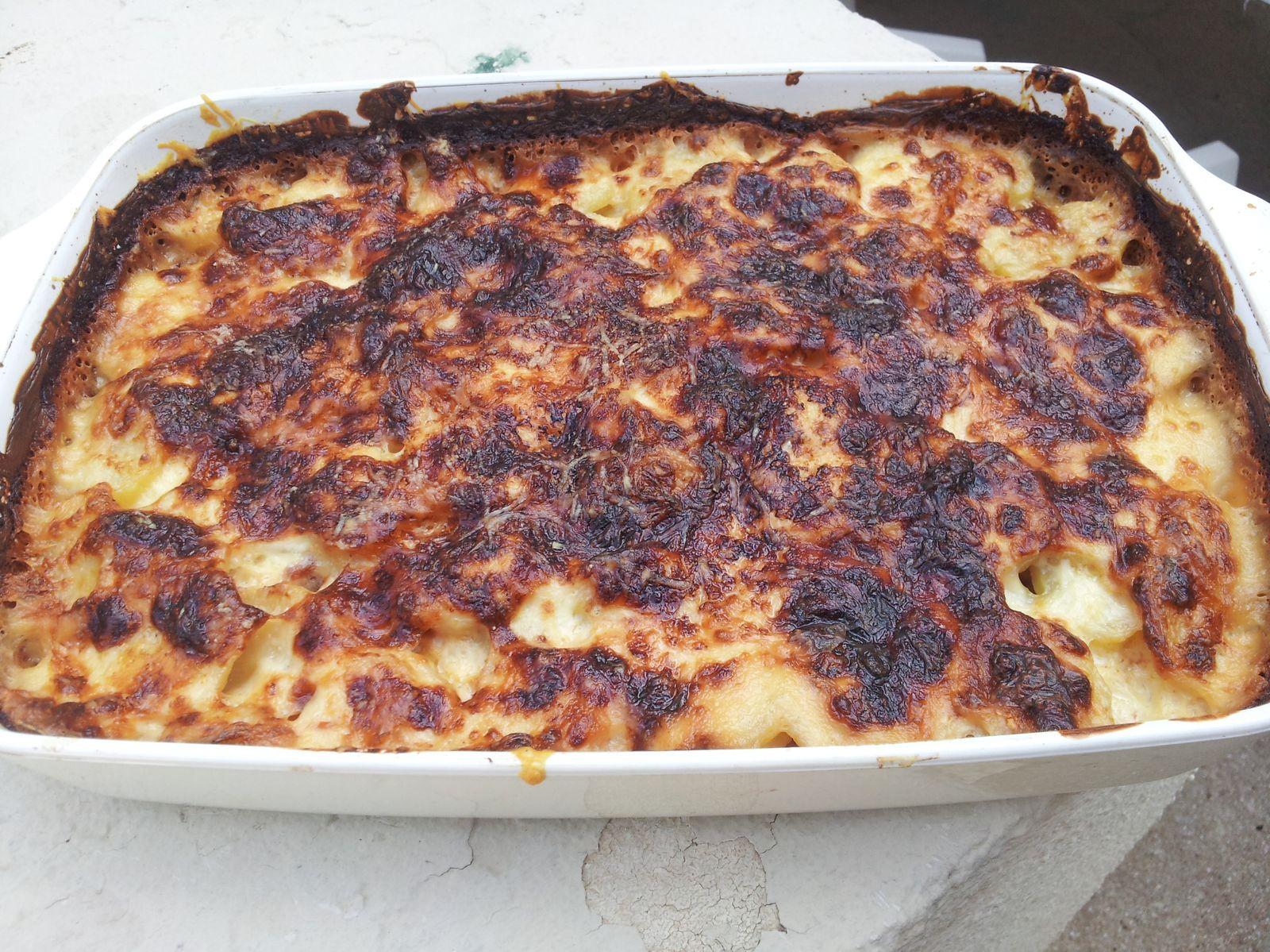 Gratin de pommes de terre jambon le blog de lapopotteduclocher - Gratin de pomme de terre jambon ...