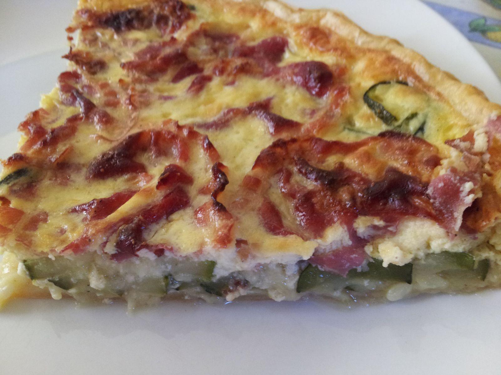 tarte aux courgettes et à la pancetta
