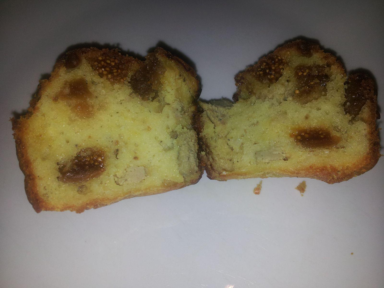 cake au foie gras et aux figues sèches