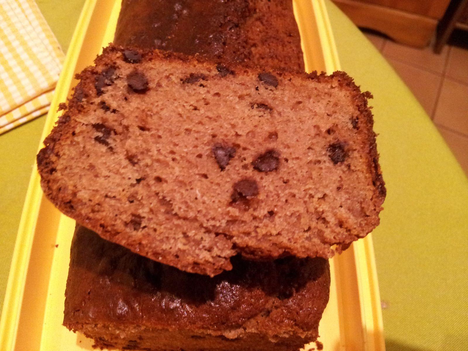 Cake châtaigne et chocolat
