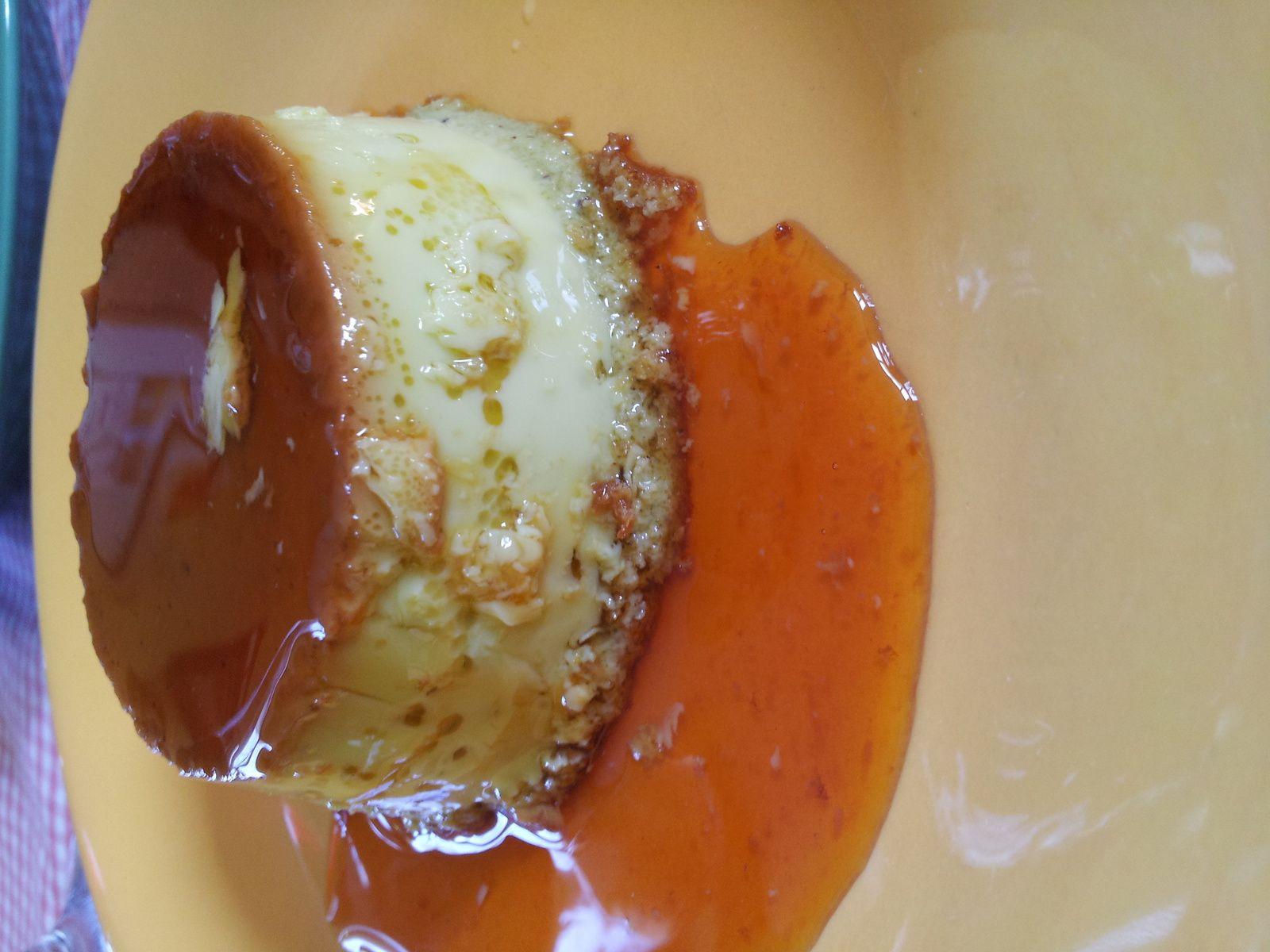 Crème renversée à la pistache et au caramel