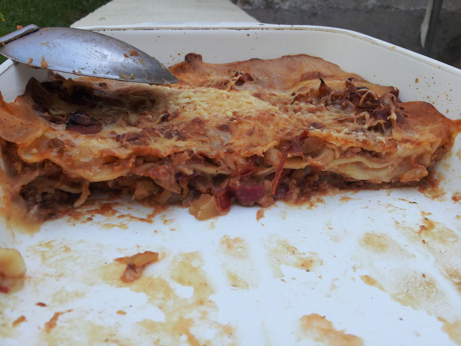 Lasagnes au bacon et ratatouille